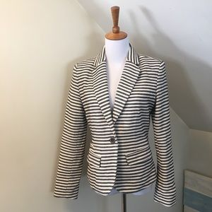 ❤️ Merona Striped Blue and White Blazer 4